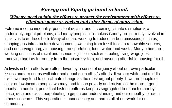 Energy and Equity go hand in hand